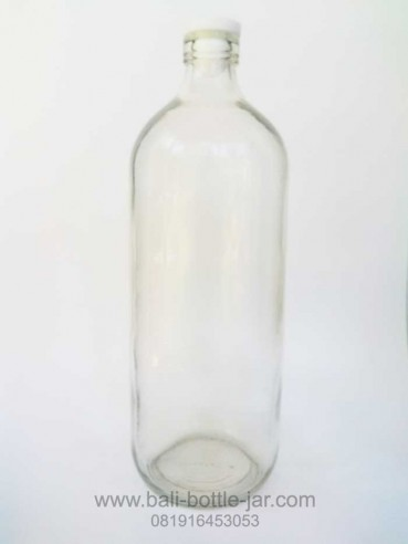 1 litre bottle glass – Rp 7.500/pcs