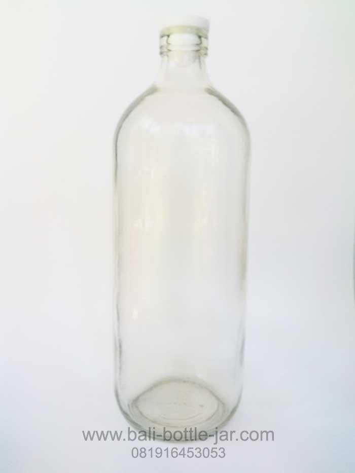 1 litre bottle glass – Rp 7.500/pcs