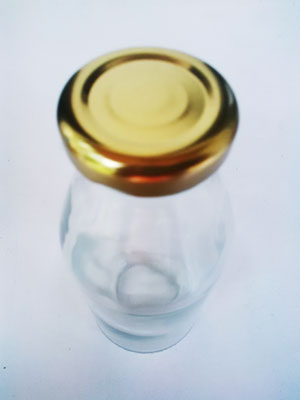 botol juice 350ml tampak atas