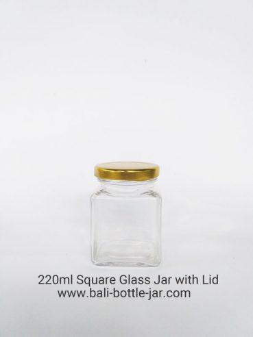 220ml Square Glass Jar – Rp. 7.500