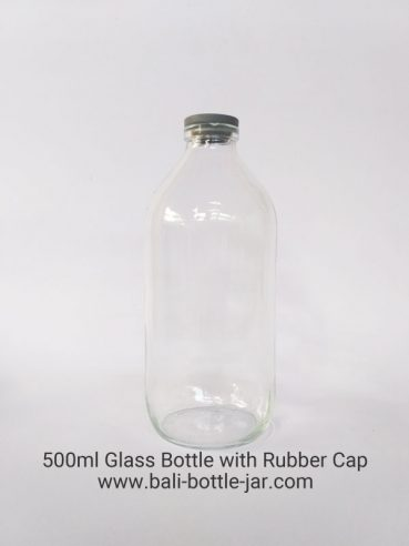 500ML GLASS BOTTLE WITH RUBBER CAPS – Rp. 4.000/pcs