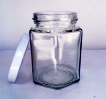 Toples selai segi enam Hexagonal jar 190ml