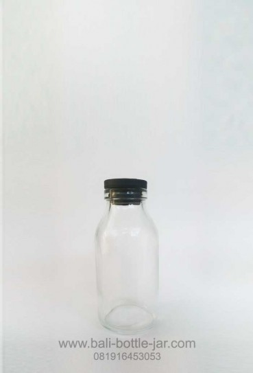 100ML GLASS BOTTLE WITH RUBBER CAPS – Rp. 2.500/pcs