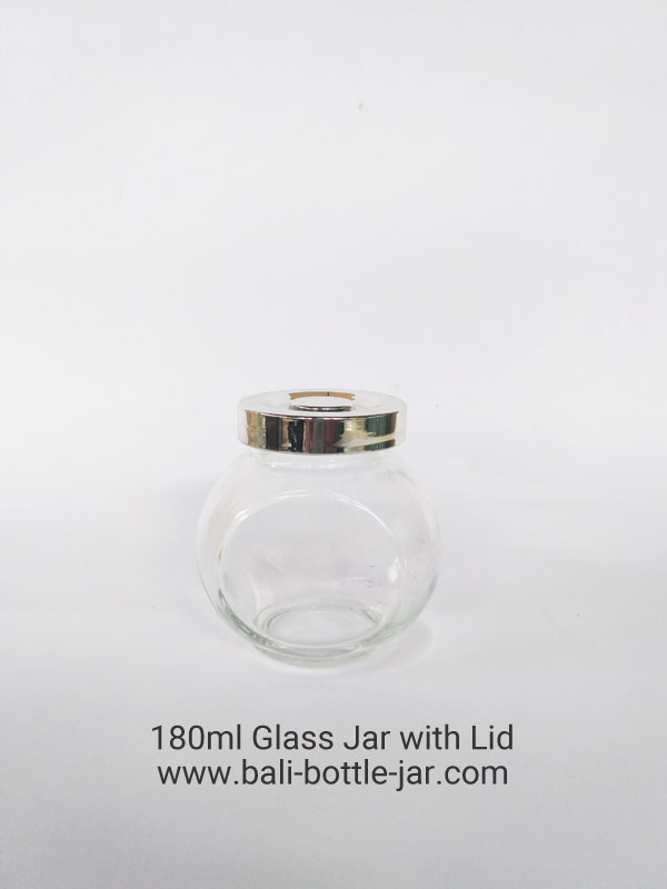 180 Glass Jar with Lid Rp 8.500,-
