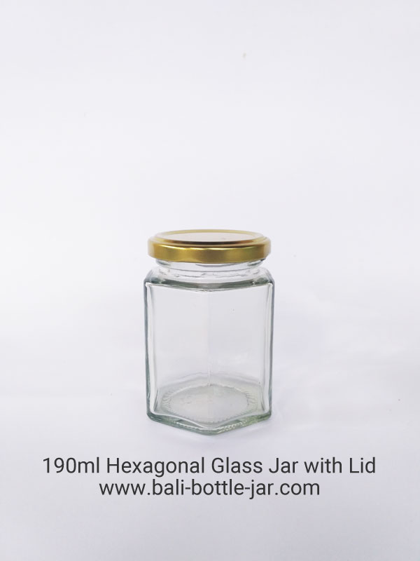 190ml Hexagonal Glass Jar – Rp. 7.000,-
