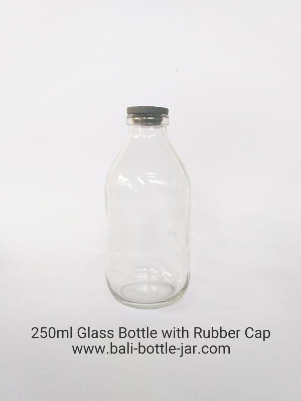 250ml Glass Bottle Rubber Cap Rp. 3.000,-